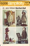 Simplicity 6006 Holly Hobbie Stuffed Doll Pattern UNCUT