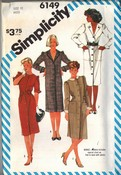 Simplicity 6149 Career Dress Patner Size 12