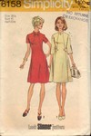 Simplicity 6158 Size 18-1/2 Vintage Look Slimmer Dress Pattern U