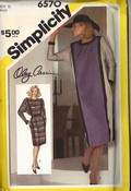 Simplicity 6570 Oleg Cassini Dress Pattern Size 12