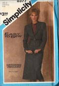 Simplicity 6577 Easy Sew Suit Pattern Medium