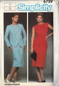 Simplicity 6739 Asymmetrical Front Wrap Jacket Skirt ...