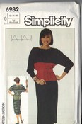Simplicity 6982 Tahari Dress Pattern UNCUT
