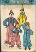 Simplicity 7162 Clown Pattern Small Adult UNCUT