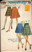 Simplicity 7211 Pleated Skirt Pattern Vintage UNCUT