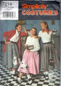 Simplicity 7214 Poodle Kitty Skirt Costume Pattern UNCUT