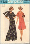 Simplicity 7328 Size 18-1/2 Circa 1975 Dress Pattern UNCUT