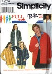 Simplicity 7342 Size FF Mary Duffy Jacket Pattern UNCUT