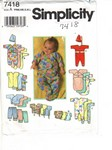 Simplicity 7418 Infant Layette Pattern UNCUT