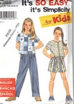 Simplicity 7665 Size A Girl's Separates Pattern UNCUT