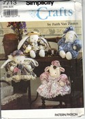 Simplicity 7713 Soft Bunny Lamb Pattern NUCT
