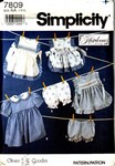 Simplicity 7809 Size AA Oliver Goodwin Smocked Pinafore Pattern