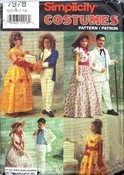 Simplicity 7978 Child GWTW Beauty Beast Costume Pattern UNCUT