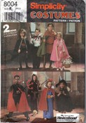 Simplicity 8004 Child Costume Pattern Cape Robe Tunic UNCUT
