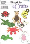 Simplicity 8091 Beanbag Toy Pattern UNCUT