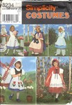 Simplicity 8234 Size BB Girl's Halloween Costume UNCUT