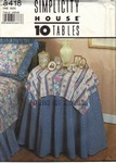 Simplicity 4818 Tablecloth Pattern UNCUT