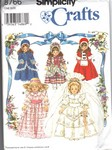 Simplicity 8766 Collector 16 and 18 Doll Clothes Pattern