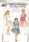 Simplicity 8819 Size 7 Girl's Party Dress Pattern UNCUT