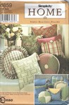 Simplicity 8859 Pillow Covers & Bed Rest Sewing Pattern UNCUT
