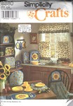 Simplicity 8880 Kitchen Curtain Accessories Pattern UNCUT