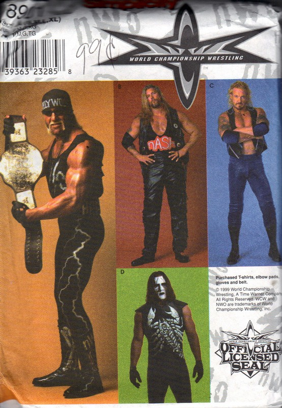 McCalls 8901 A WWA Wresting Costume Pattern