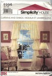 Simplicity 8996 Curtain Swag Pattern UNCUT