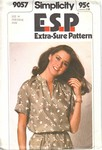 Simplicity 9057 Size N ESP Vintage Blouse Sewing Pattern