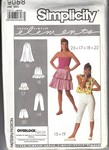 Simplicity 9058 Elements Overlock Skirt Pants Pattern