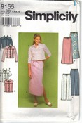Simplicity 9155 Easy Skirt Top Pant Pattern UNCUT