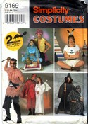 Simplicity 9169 Adult Costume Pattern Pirate Indian More UNCUT