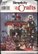 Simplicity 9327 Christmas Accessories Pattern Uncut