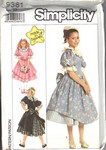 Simplicity 9381 Size 10 Girls Made in Heave Party Dress UNCUT