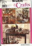 Simplicity 9471 Covered Frames Baskets Boxes Pattern UNCUT