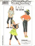 Simplicity 9573 Size A Girls Knit Separates Pattern UNCUT