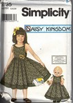 Simplicity 9735 HH Daisy Kingdom Girl Doll Dress UNCUT