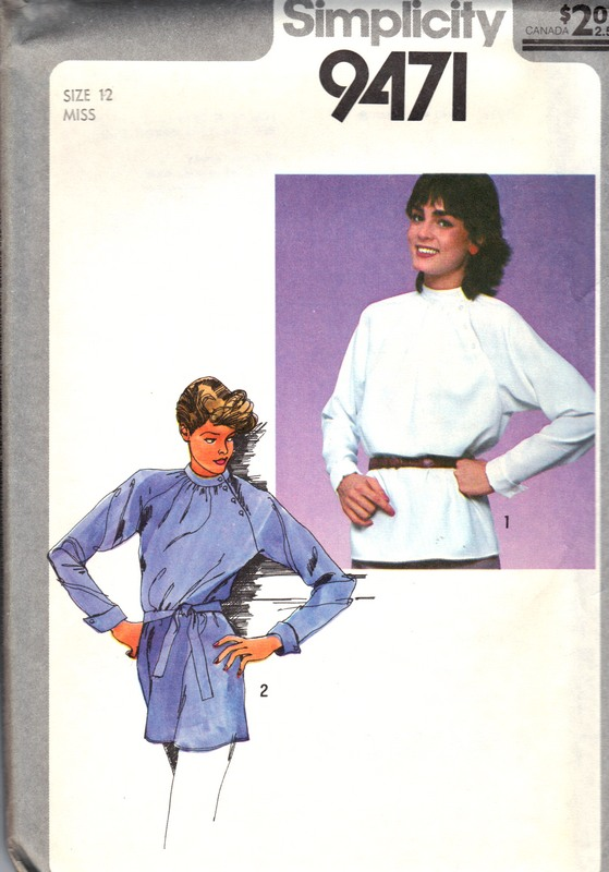 Simplicity 9741 Misses Pullover Top Tunic Pattern UNCUT