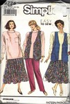 Simplicity 9775 N5 Easy to Sew Separates Pattern UNCUT