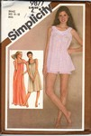 Simplicity 9877 Small Nightgown Baby Doll Pattern UNCUT