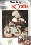 Simplicity 9880 Gingerbread People Plush Doll Pattern UNCUT