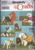 Simplicity 9884 Dog Costume Sewing Pattern UNCUT