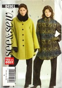 See Sew 4901 Size A Coat Jacket Sewing Pattern