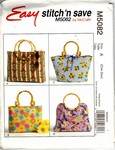McCalls Stitch Save 5082 Handbag Pattern UNCUT