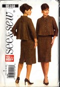 See Sew B5168 Retro Look Skirt Suit Sewing Pattern