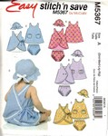 McCalls 5367 Infant Dress Panties Hat Pattern