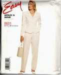 stitch 'n save 8601 Size B Pantsuit Pattern UNCUT