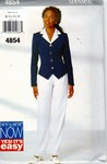 Butterick See & Sew 4854 Sz B Top Pants Pattern UNCUT
