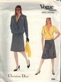 Vogue 1030 Christian Dior Suit Pattern Size 12 uncut