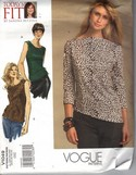 Vogue 1049 Sandra Bezina Today's Fit Top Pattern UNCUT