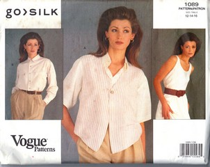 Vogue 1089 Go Silk Vest Shirt Pattern UNCUT